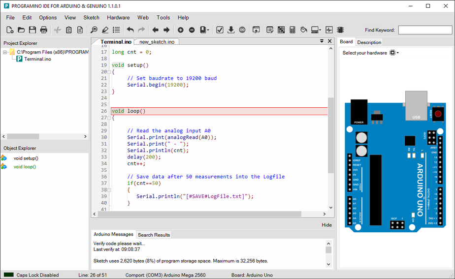 IDE for Arduino - PROGRAMINO the alternative Arduino IDE